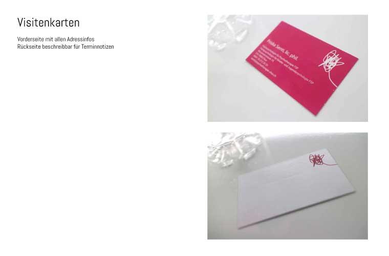 Logo und Visitenkarten für Psychotherapeutin