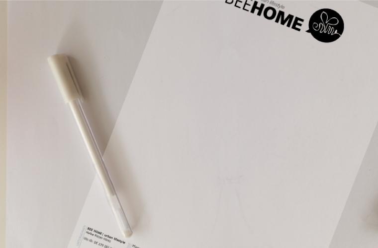 Briefpapiergestaltung Briefdruck
