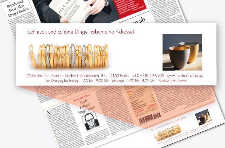 Anzeigengestaltung Printwerbung