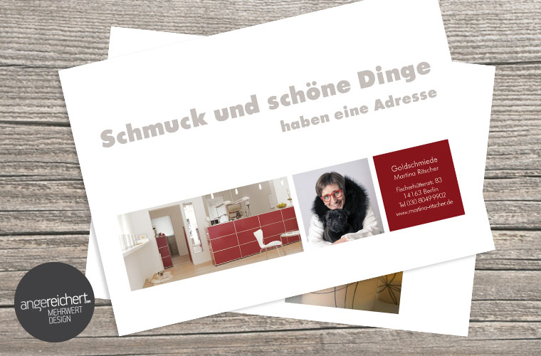 Postkarte für Schmuck