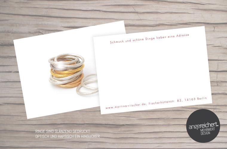 Postkarten mit Glanzeffekten für Goldschmiede