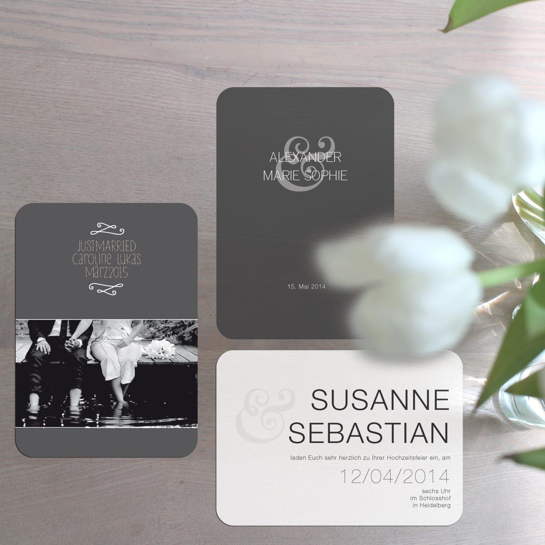 Hochzeitslogo und Hochzeitskarten