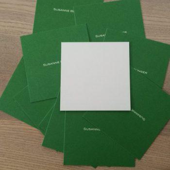 Quadratische Visitenkarten