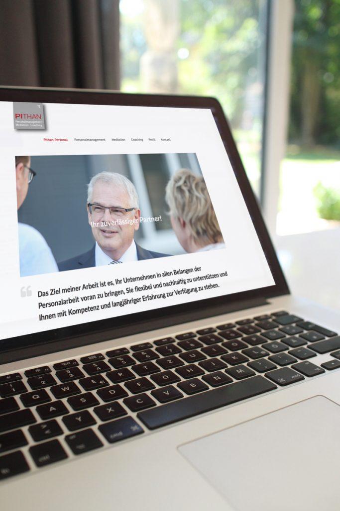 Homepagedesign für Personalmanager und Coach