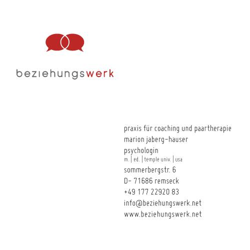 Logo und Terminkarte für Paartherapeutin