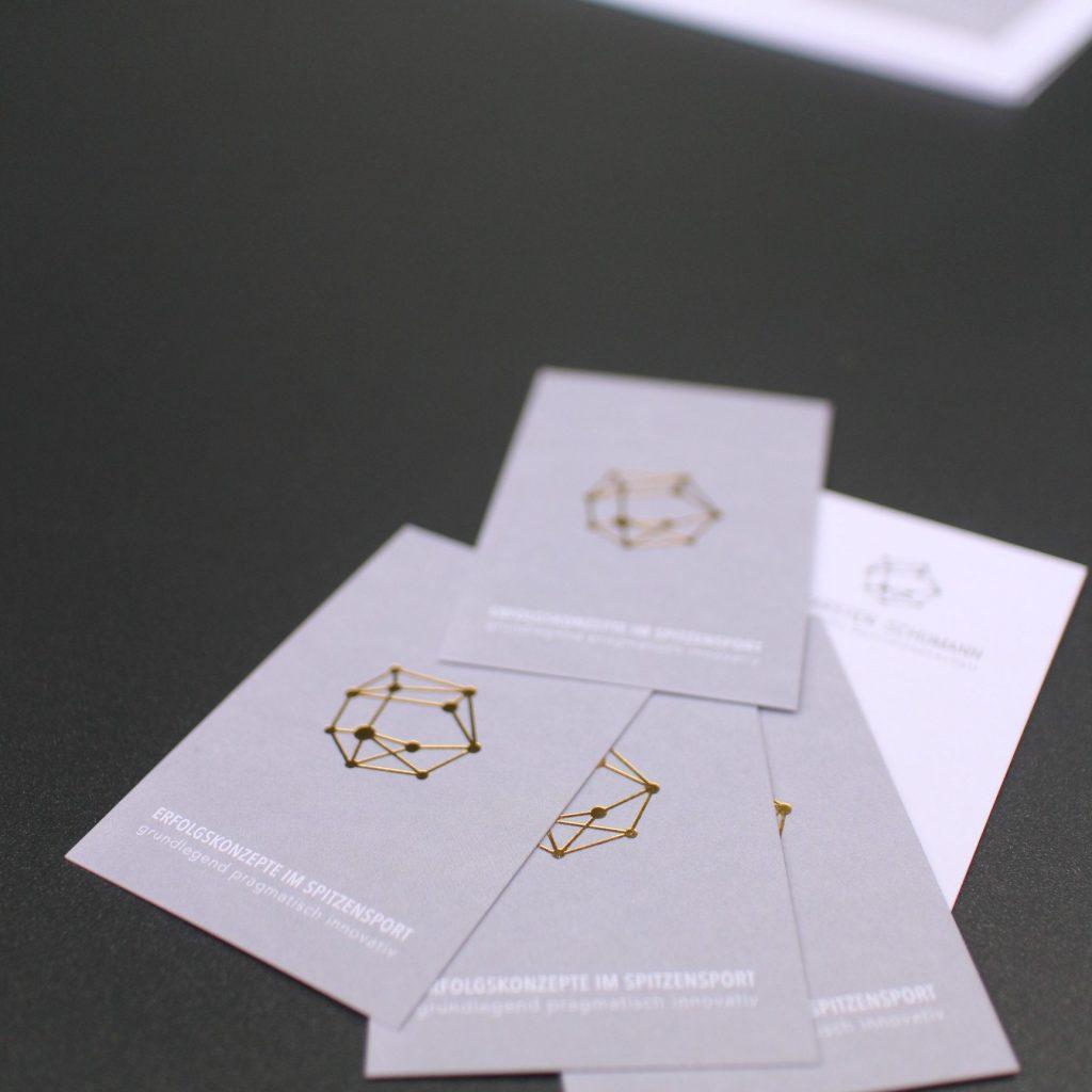 Visitenkarten Mit Logogoldprägung Auf Edlem Gmunder Papier