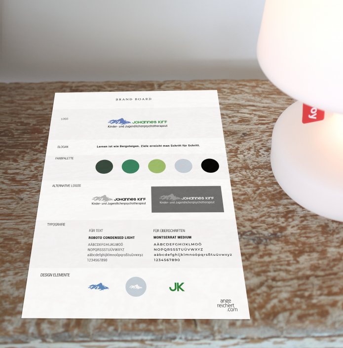 Designvorgaben für Logo, Schrift und Grafikelemente