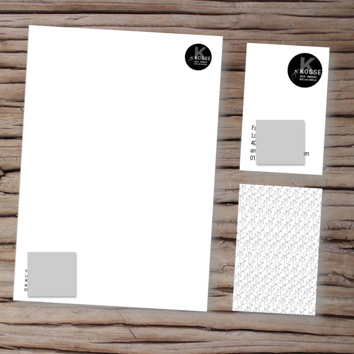 Logo, Visitenkarten und Briefpapier für eine Familie