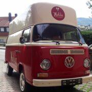 Eiswagen mit neuem Logo
