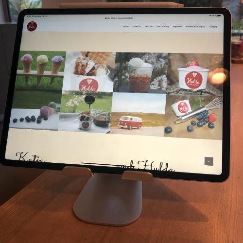 Webdesign für Eiswerkstatt